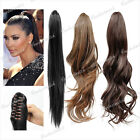55/50/45cm Curly Straight Pony Tail Hair Extension Synthetic Fiber Hairpiece