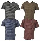 Mens Duck And Cover Fox Striped Crew Neck T-Shirt, Size S M L XL XXL XXXL