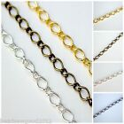 1 METRE OVAL TWIST CHAIN 9 x 6mm - Jewellery Making Findings - Choice of colours