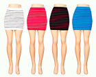 Tight Fit Career Quality Comfortable Stylish SEAMLESS Striped Tube Skirt S/M/L