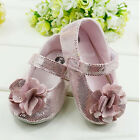 Toddler Baby Girl Princess Flower Shoes Age 3-6 6-9 9-12 months Size US 1 2 3
