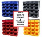 NEW UK Made Plastic Parts Storage Bins Boxes With Steel Wall Lovre Panel  SET 19