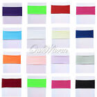 Spandex Lycra Stretch Chair Cover Bands Replace Chair Sash Bow Color Banquet New
