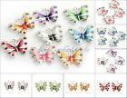 5/10pcs Enamel Animal Butterfly Pendant Charms Jewelry Making Findings image
