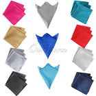 "12 Square Satin Cloth Napkin or 12"" Handkerchief Multi Purpose Wedding Party New"