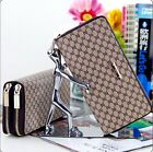 New Lady Women's 8 Word Double zipper Wallet Clutch Purse Handbag Bags