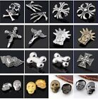 Punk Antique Silver Skull Rivets Studs Leathercraft Finding For DIY Accessories