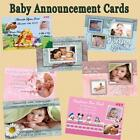 Baby Birth Announcement Cards w Env & Personalized CDs & DVDs NOT a LABEL Custom
