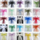 50 Organza Sash Chair Bow Wedding Party Supply Decoration New Multicolr Hot Sale