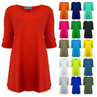 Womens Plus Size Block Colour Slouch Fit Tunic Top Ladies New Size 16-28