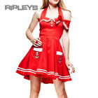 HELL BUNNY Party MOTLEY MINI DRESS Red SAILOR All Sizes