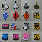 The Finger / 1%er / Biker Iron On / Sew Patch Badge one percenter middle finger