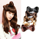Sweet Synthetic Hair Hairpiece Bowknot Hair Wig Extensions Hairpin f. Girls HOT