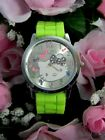 #423 Sweet Hello Kitty Colorful Watch Face w/Silicone Band (Choice of 9 Colors)