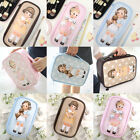 Paper Doll Mate Cosmetic Makeup Case Pouch Bag Vintage Cute Girl w/Pet Kawaii