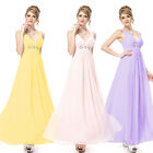 Maxi Long Ladies V Neck Evening Bridesmaid Dresses Formal Party Prom Gown 09449