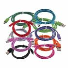 Micro USB Charger Sync Cable Adapters Braided Woven for Samsung HTC phone