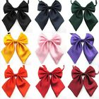 9 Colors Silk Blend Solid Color Ladies Butterfly School Office Fashion Bow Tie