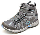 Columbia TALUS RIDGE MID OUTDRY Gray Blue Hiking Boots Shoes Women's NEW  BL2483