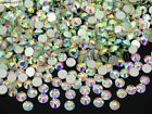 Top Quality Clear AB Crystal Round Rhinestones Flatback No Hotfix ss3 ~ss40 Pick