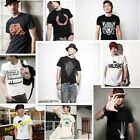 Men's New Fashion Luxury Slim Fit Solid Color Dress Short Sleeve Shirts
