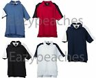ADIDAS GOLF Climalite Mens S-2XL 3XL Cotton Blend Colorblock Polo Sport Shirts