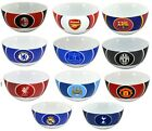OFFICIAL FOOTBALL CLUB - CERAMIC BULLSEYE CEREAL BREAKFAST BOWL - NEW GIFT XMAS