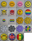 Smiley Face Iron On / Sew On Cloth Patch Badge Appliqué happy face smile smiling