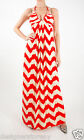 T-Bags Los Angeles Braided Back V Neck Maxi Dress in Red/White