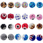 HOT Perle Perline Sfera con Strass Colorato Bandiera Nazionale 10mm M1117