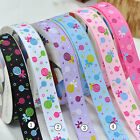 "5/50/100 yards 3/8"" 5/8"" 1"" 1.5"" lollipop sewing grosgrain ribbon scrapbooking"