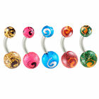 Belly button bars surgical steel navel bars piercings kit rings jewellery 9KAD