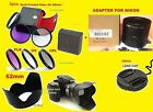 ADAPTER+FILTER KIT+HOOD+LENS CAP 62mm > CAMERA Nikon Coolpix L810 L820 L830 L840