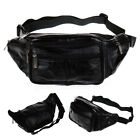 Soft Genuine Leather Waist Packs Fanny Bag Mens Womens Hip Travel Carry On Pouch
