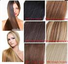 """7Pcs Clip In 100% Real Human Hair Extension Full Head 16""""-24"""" Brown Blonde Black"""