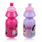 Kids 350ml Disney Non Drip Spill Child Sports Pull Top Bottle Drinks Water Lid