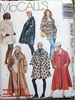 *CLEARANCE: COAT JACKET CAPE & PONCHOS paper patterns pick from assorted designs