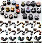 Acrylic SKULL Superman Logo Ear Plug Flesh Tunnel Stretcher Ear Expander Gauges