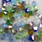 Free shipping 100pcs 4mm Glass Crystal Jewelry #5301 Bicone beads U Pick colors