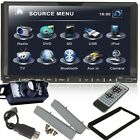 "HD 2Din 7"" Car DVD Player In-Dash Stereo Radio iPod TV Bluetooth USB SD+Camera"