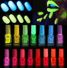Multi 20 Colours Fluorescent Neon Nail Art Polish Glow In Dark Nail Varnish 7ml
