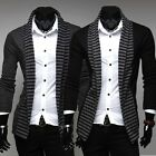 New Hot Fashion Men's Stripes Fit Suit Blazer Long Sleeve Casual Coats Jacket