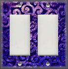 Light Switch Plate Cover - Moroccan Home Decor - Swirls - Purple