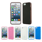 Evecase Matte TPU Gel Hard Skin Case Cover with Rim For Apple iPhone 5S iPhone 5
