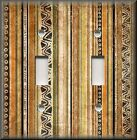 Light Switch Plate Cover - Tribal Stripes Brown - African Home Decor