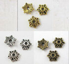 80Pcs Tibet Silver,Gold,Bronze Tone Tiny-Flower End Bead Caps 8mm free shipping