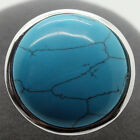 Huge Smooth 24mm Blue Turquoise Gem 925 STERLING SILVER RING SIZE #7/8/9/10