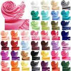 HOT SELL Women's Fashion Cashmere Blend Solid Tassels Sun Block Scarf Wrap