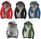 Mens Thickened Chic Slim Fit Top Designed Hooded Hoodies Jackets Coats Tops NEW