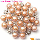 Finished Jewelry Fashion 48mm freshwater pearl white gold plated brooch